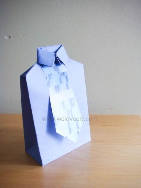 DIY 父親節衣領型禮物包裝袋教學