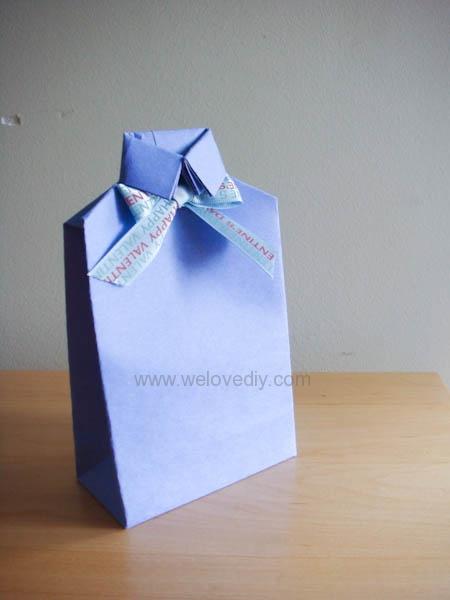 DIY 父親節衣領型禮物包裝袋教學2