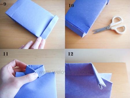 DIY 父親節衣領型領帶禮物包裝紙袋
