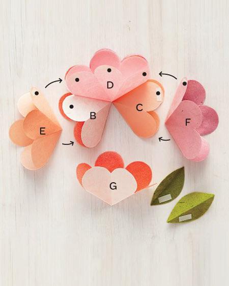 DIY 母親節 3D 會開花的立體花朵手工卡片教學 (4)