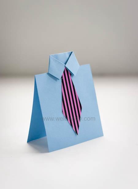 Father's Day Card 父親節領帶手工卡片教學 (10)
