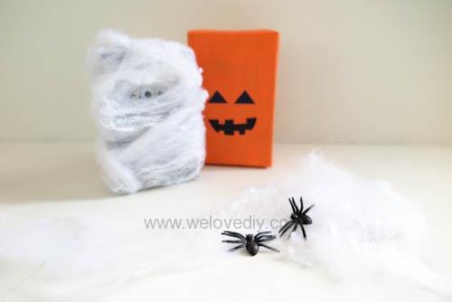 DIY 萬聖節南瓜造型禮物包裝教學 (1)