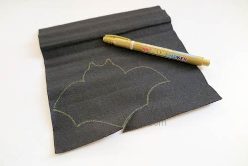 DIY 萬聖節嚇人的應景毛氈不織布蝙蝠造型杯墊