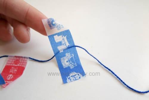 DIY 雙和號雜貨紙膠帶雙十國慶小旗吊飾教學