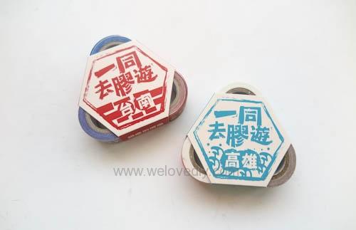 DIY 雙和號雜貨紙膠帶雙十國慶小旗吊飾 (2)