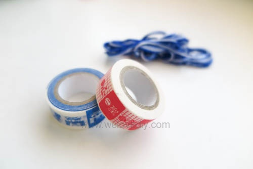DIY 雙和號雜貨紙膠帶雙十國慶小旗吊飾 (4)