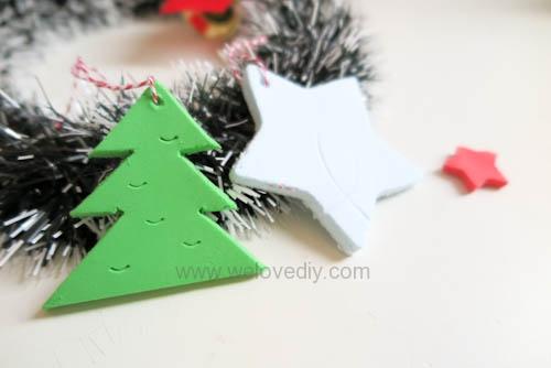 DIY 聖誕節親子手工黏土掛飾 (15)