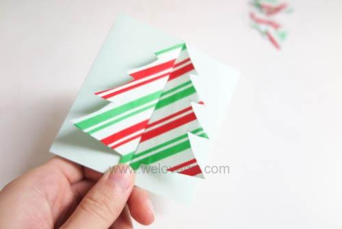 DIY Christmas Card 創意手工聖誕卡立體聖誕樹教學 (10)