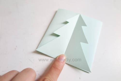 DIY Christmas Card 創意手工聖誕卡立體聖誕樹教學 (12)