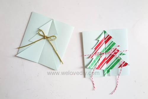 DIY Christmas Card 創意手工聖誕卡立體聖誕樹教學 (15)