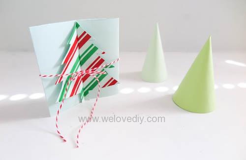 DIY Christmas Card 創意手工聖誕卡立體聖誕樹教學 (16)