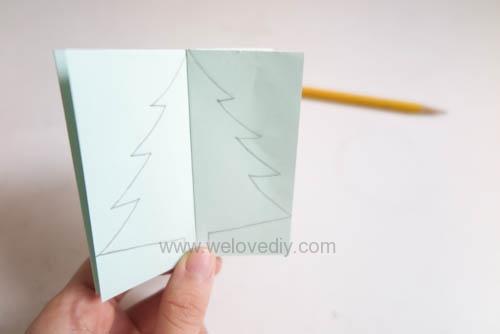 DIY Christmas Card 創意手工聖誕卡立體聖誕樹教學 (4)