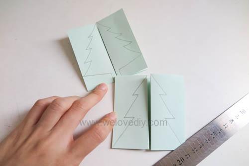 DIY Christmas Card 創意手工聖誕卡立體聖誕樹教學 (5)