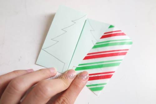 DIY Christmas Card 創意手工聖誕卡立體聖誕樹教學 (7)
