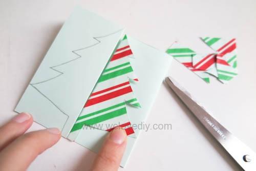 DIY Christmas Card 創意手工聖誕卡立體聖誕樹教學 (9)