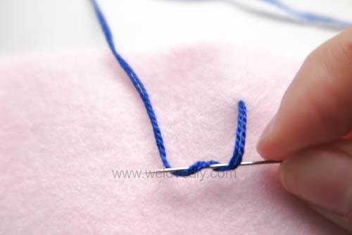 DIY French Knot 法式線結花芯刺繡針跡做法 (4)