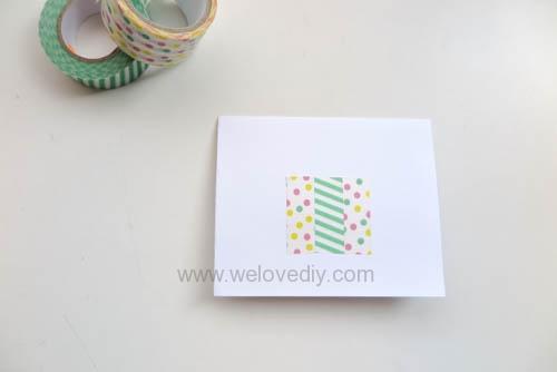 DIY 紙膠帶手工生日卡片 (2)