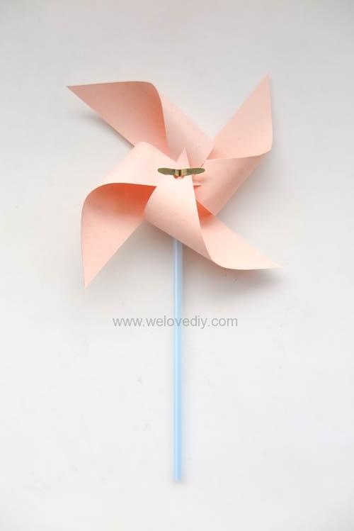DIY 兒童節簡單親子手作紙風車 (17)