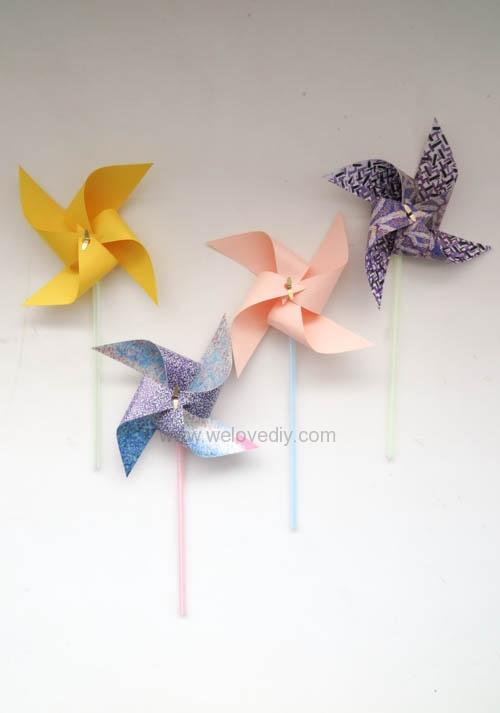 DIY 兒童節簡單親子手作紙風車 (18)