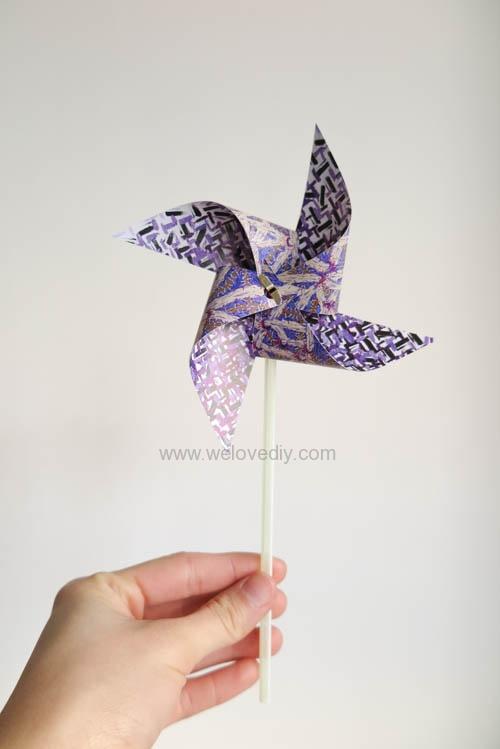 DIY 兒童節簡單親子手作紙風車 (19)