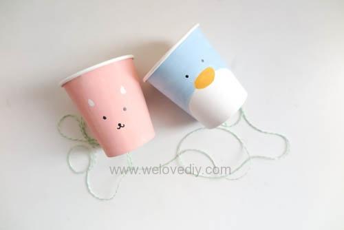 DIY 兒童節紙杯玩具傳聲筒 (1)