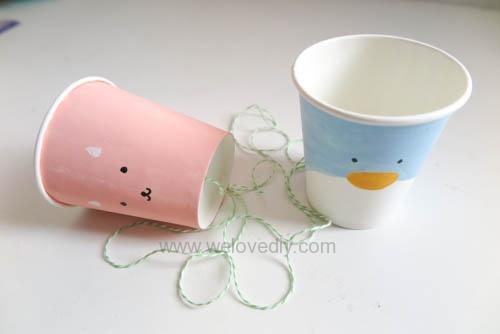 DIY 兒童節紙杯玩具傳聲筒 (12)