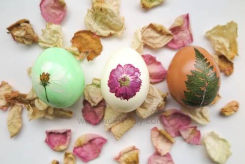 Easter Eggs with Pressed Flowers DIY 復活節壓花押花蝶谷巴特大人版彩蛋 (14)