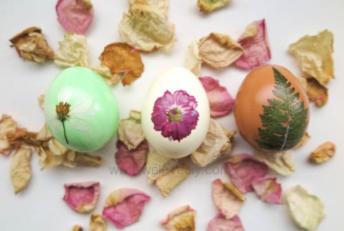Easter Eggs with Pressed Flowers DIY 復活節壓花押花蝶谷巴特大人版彩蛋 (14)