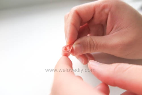 DIY 手工捲紙基礎技法教學 母親節卡片 情人節卡片 (15)