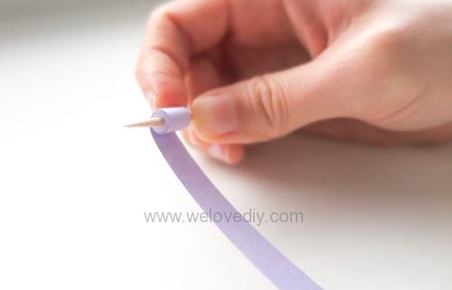 DIY 手工捲紙基礎技法教學 母親節卡片 情人節卡片 (3)
