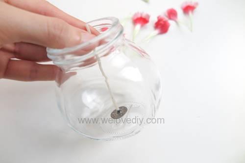 DIY 母親節手作禮物康乃馨花朵手工精油蠟燭 (5)
