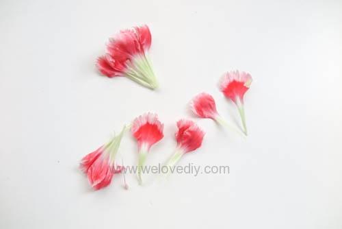 DIY 母親節手作禮物康乃馨花朵手工精油蠟燭 (6)
