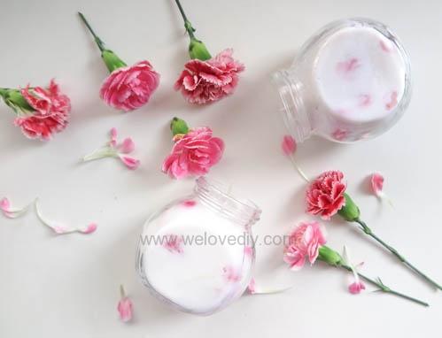DIY 母親節手作禮物康乃馨花朵手工精油蠟燭 (8)