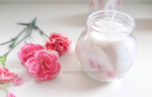 DIY 母親節手作禮物康乃馨花朵手工精油蠟燭 (9)