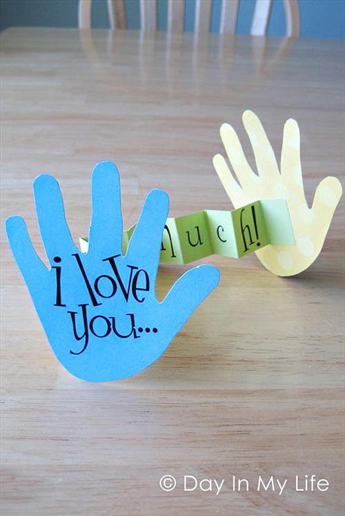DIY 母親節親子手作小朋友手工手印手掌卡片 (1)