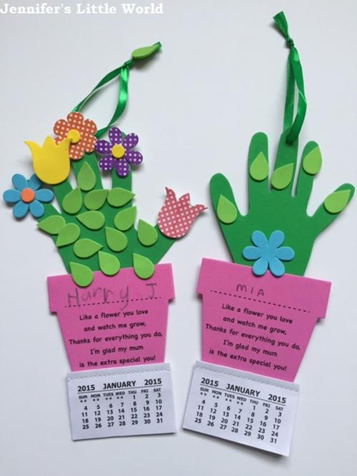Children S Calendar Ideas To Make : 母親節 大手牽小手親子手作卡片 we love diy 手創玩家
