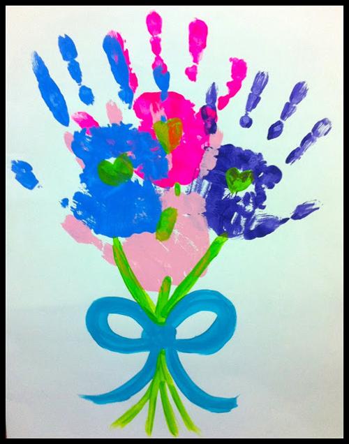 DIY 母親節親子手作小朋友手工手印手掌卡片 (6)