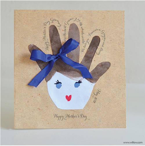 DIY 母親節親子手作小朋友手工手印手掌卡片 (7)