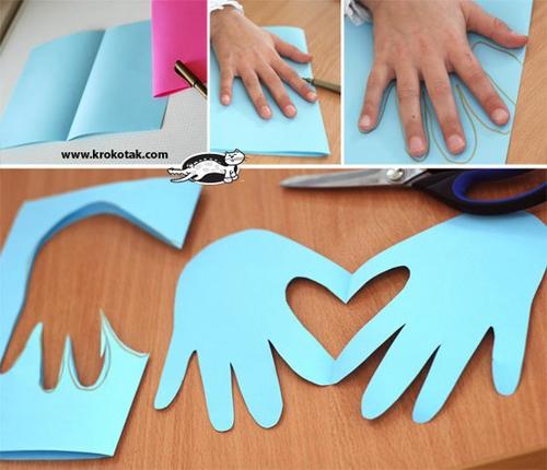 DIY 母親節親子手作小朋友手工手印手掌卡片 (8)