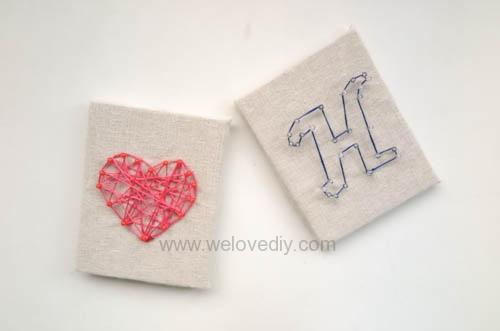 DIY 母親節 手作禮物情人節 手工生日禮物 英文字母 繩線擺飾藝術 (17)