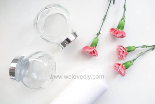 IKEA 香料罐 DIY 母親節手作禮物康乃馨花朵手工精油蠟燭 (1)