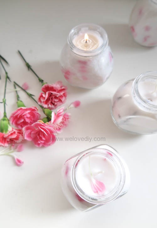 IKEA 香料罐 DIY 母親節手作禮物康乃馨花朵手工精油蠟燭 (2)