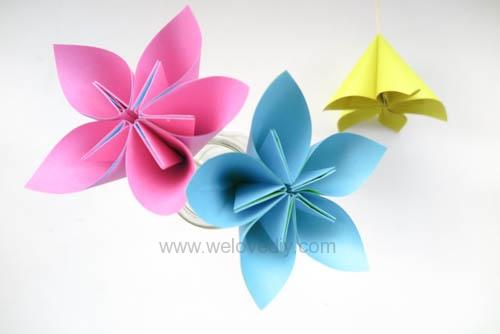 DIY 春天母親節手工紙做雛菊花束花朵 38 婦女節 (19)