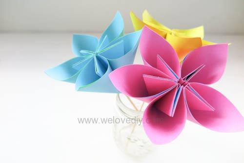 DIY 春天母親節手工紙做雛菊花束花朵 38 婦女節 (20)