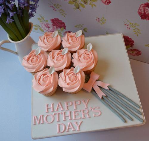 DIY 母親節手工杯子蛋糕 (1)