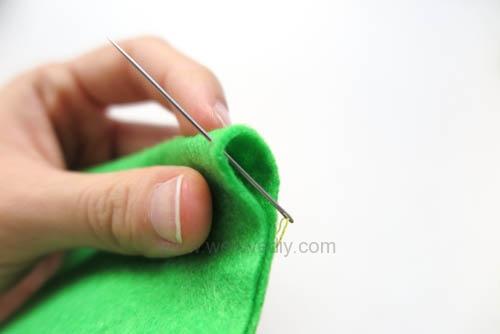 DIY 毛毯邊鎖縫針手作基礎教學 (1)