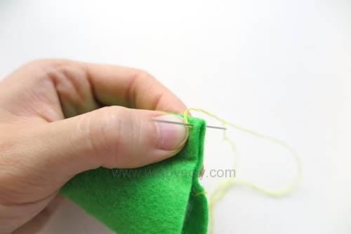 DIY 毛毯邊鎖縫針手作基礎教學 (10)