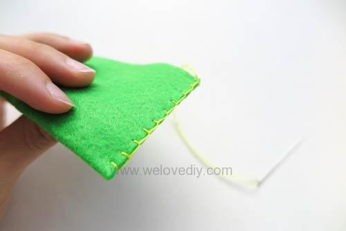 DIY 毛毯邊鎖縫針手作基礎教學 (8)