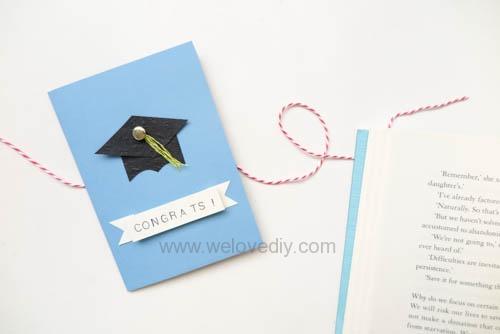 DIY 畢業季大學畢業典禮學士帽四方帽手工卡片教學 (1)