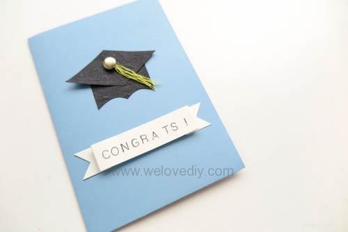 DIY 畢業季大學畢業典禮學士帽四方帽手工卡片教學 (2)